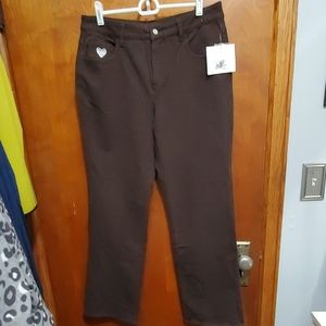 Brown Jean's womens size 8